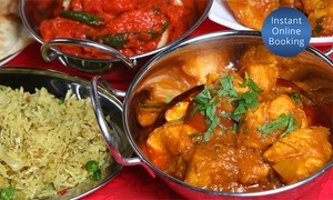 B Lounge: Two-Course Indian Dinner with Drinks for Two ($40), Four ($79) or Eight People ($157) at B Lounge (Up to $320 Value)