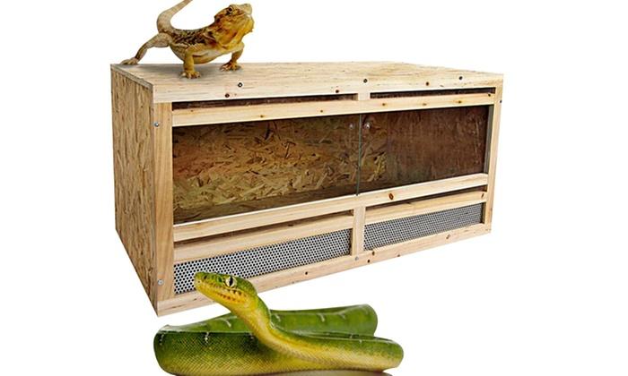 terrarium ou cage en bois groupon shopping. Black Bedroom Furniture Sets. Home Design Ideas