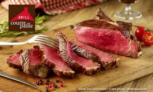 Courtepaille: Chez Courtepaille, pour 1€ bénéficiez de 40% de réduction sur toutes les grillades, midi et soir + un apéritif offert*