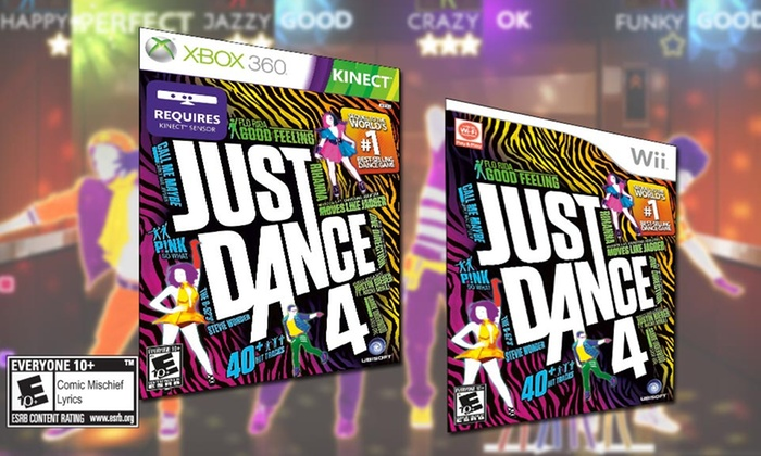 Just Dance 4 for Wii or Kinect for Xbox 360: $24.99 for Just Dance 4 for Wii or Kinect for Xbox 360 ($39.99 List Price). Free Shipping and Returns.