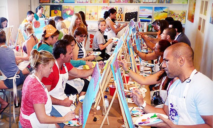 The Fun Palette - North Miami Beach: 2.5-Hour BYOB Painting Class for One or Four with All Materials Included at The Fun Palette (Up to 56% Off)