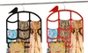 2-Pack of Flocked Scarf Hangers with Birdcage Design: 2-Pack of Flocked Scarf Hangers with Birdcage Design
