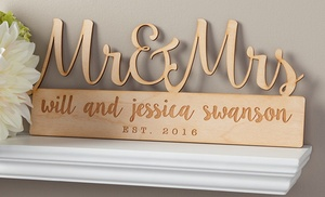 one two or four custom home decor signs from personalized planet up to 68 off - Custom Signs For Home Decor