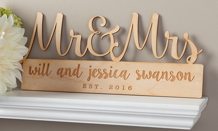 Up to 68 off custom home decor signs groupon for Personalized home decor