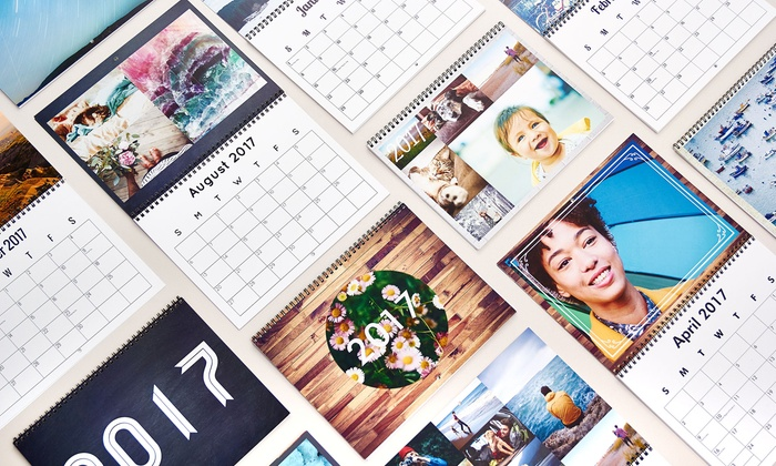 Collage.com: Custom Photo 12-Month Calendars from Collage.com Calendars (Up to 76% Off)