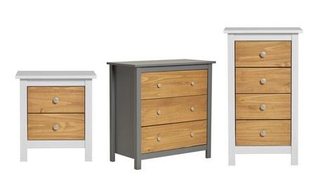 Muebles de dormitorio en madera de pino Bonnie