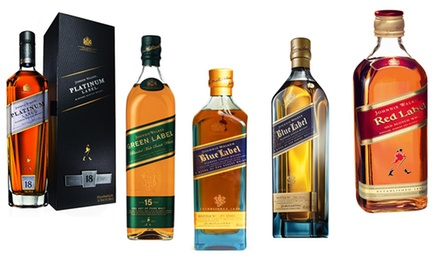 Johnnie Walker Red, Green, Platinum or Blue Label at Beverage Shop