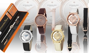 Stuhrling Women's Crystal or Diamond Accents Watch Collection