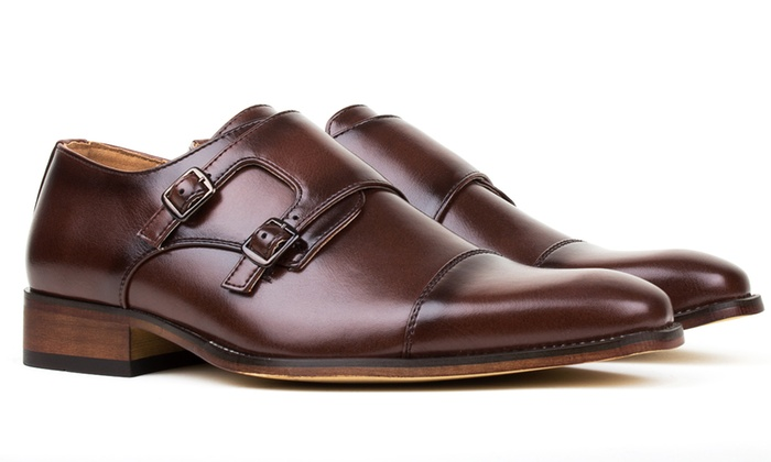 Gino Vitale Men S Dress Shoes With Double Monk Strap