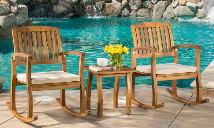 Up To 16% Off On Rocking Chairs With Side Table | Groupon Goods