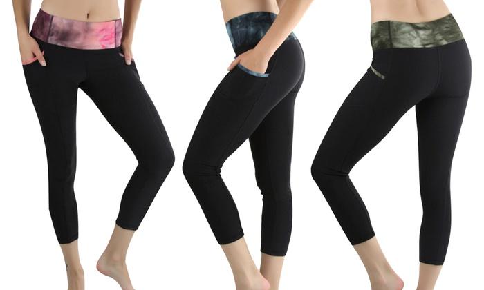 Women's Space-Print Capri Leggings