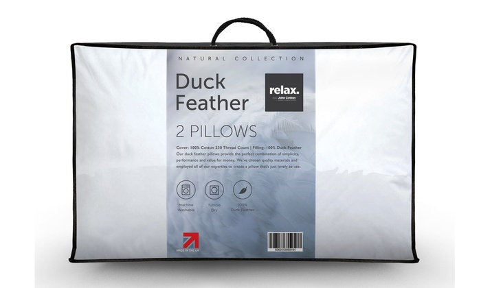 Two, Four or Six John Cotton Relax Feather Pillows from £14