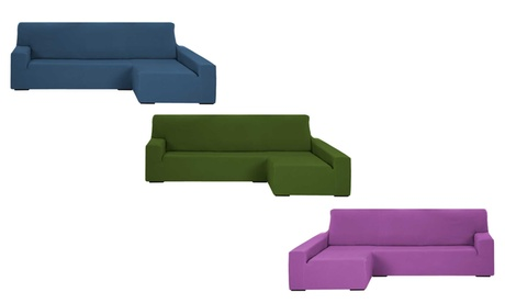 Funda de sofá chaise longue elástica donatela