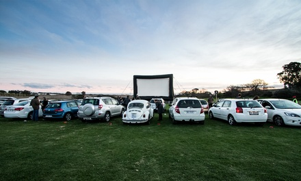 One Vehicle Entry Ticket to a Movie with PopUp Cinema