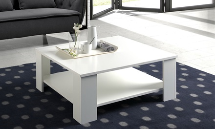 melamine coffee table groupon goods. Black Bedroom Furniture Sets. Home Design Ideas