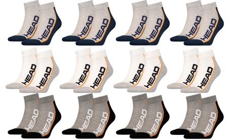 Set de 6 o 12 pares de calcetines Head de 100% algodón