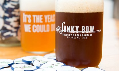 image for Brewery Package for Two or Four with Optional Tour at Funky Bow Brewing (Up to 51% Off)