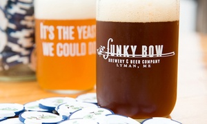 Funky Bow Brewing: Brewery Package for Two or Four with Optional Tour at Funky Bow Brewing (Up to 52% Off)