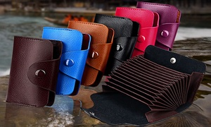 Multi-Card Leather Wallet for Men and Women
