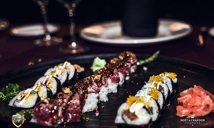 Menú gourmet o de sushi para 2 personas con botella de vino o bebida desde 34,95 € en Goltier Restaurant & Drinks