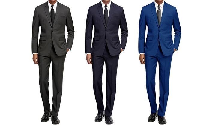 Braveman Men's Slim-Fit Suits (2-Pack)