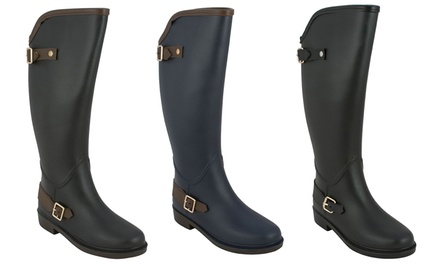 Modern Rush Clair Women's Two-Buckle Rain Boots