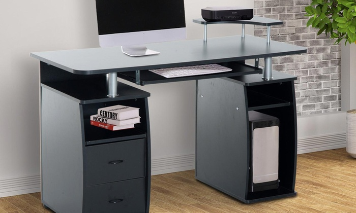 HomCom Wooden Office Desk With Free Delivery