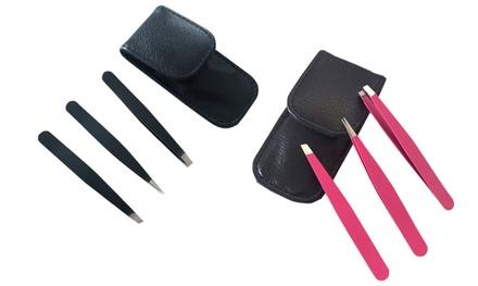 Three-Piece Eyebrow Tweezers Set