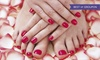 Buff Natural Nail and Beauty Bar - Spicewood: One Mani-Pedi Combo Plus Beverage for One or Two People at Buff Natural Nail And Beauty Bar (Up to 38% Off)