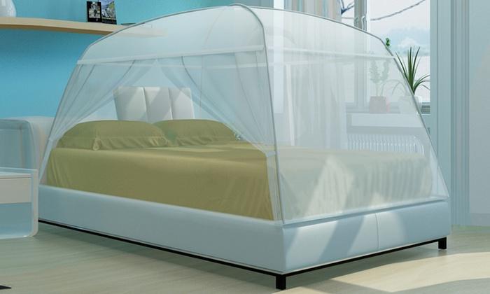 moustiquaires de lit groupon. Black Bedroom Furniture Sets. Home Design Ideas
