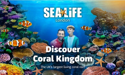 Entry to SEA LIFE London Aquarium for One or Two (check availability prior to purchase) (Up to 39% Off) (London)