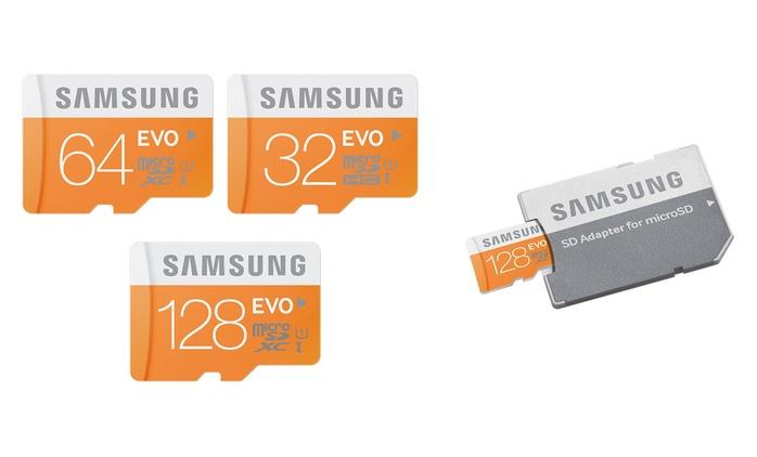 Scheda MicroSD Samsung EVO con adattatore disponibile a partire da 32GB a 9,99 € (fino a 70% di sconto)
