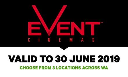 Event Cinemas: GA Tickets , Three Locations in WA