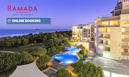 Sunshine Coast: 2 or 3 Nights for Up to Six with DVD & Bike Hire and Late Check-Out at Ramada Hotel Marcoola Beach