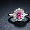 Lab-Created Pink Sapphire, Diamond, and Fire Opal Ring in 18K Gold (5)
