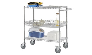 Excel NSF-Certified Wire Shelving Cart
