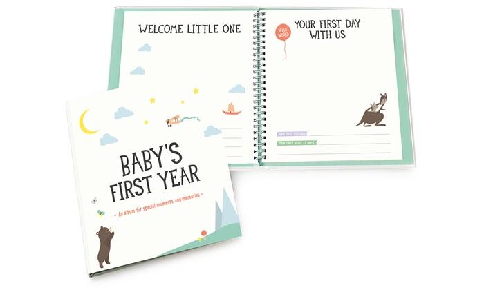 Milestone Baby S First Year Album Groupon