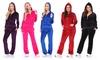 White Mark Women's Velour Hoodie 2-Piece Set
