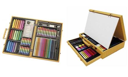 Set con 77 ó 112 piezas de pintura AKOR con estuche de madera