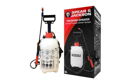 One or Two Spear & Jackson 5L Pump Action Pressure Sprayers