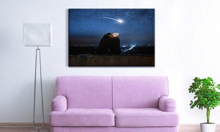 Photo personnalisée sur toile XXL, taille à partir de 90x60 cm