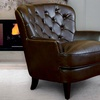 Alfred Brown Leather Armchair