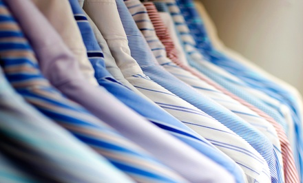 Dry-Cleaning Services at E&J Dry Cleaners (50% Off). Three Options Available.