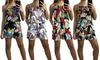 Women's Floral Print Strap Playsuit