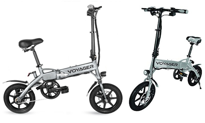 Voyager Flybrid Compact Folding Electric Bike Groupon