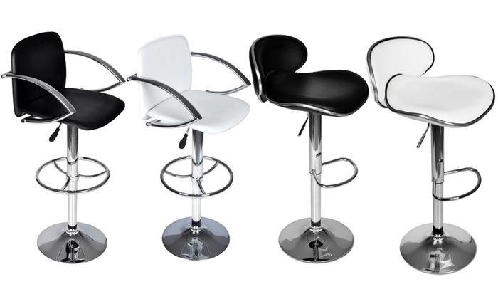 jusqu 39 19 lot de 2 tabourets de bar groupon. Black Bedroom Furniture Sets. Home Design Ideas