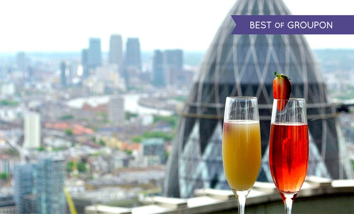 Panoramic Views, Champagne Cocktails and Sharing Platter for Two or Four at Vertigo 42 (Up to 47% Off)