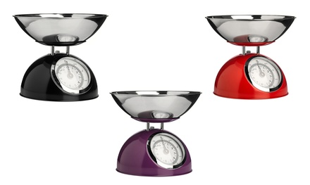 Premier Housewares Kitchen Scale with Bowl in Choice of Colour