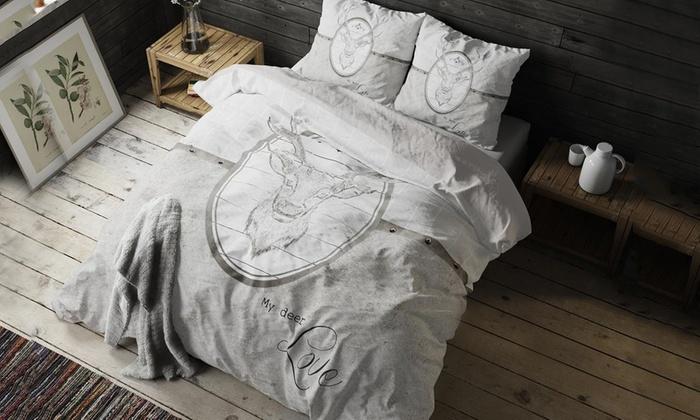 bettw sche my deer love groupon. Black Bedroom Furniture Sets. Home Design Ideas