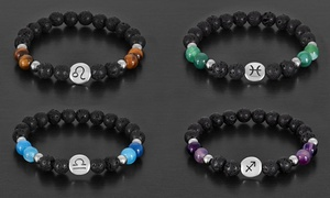 Men's Natural Stone Horoscope Bracelets